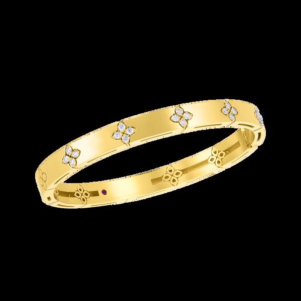 18KY Diamond Bangle by Roberto Coin Kiefer Jewelers Lutz, FL
