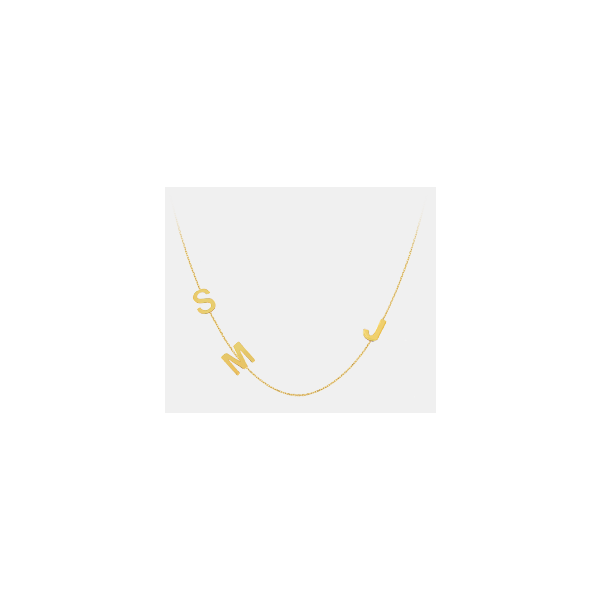 Initial Necklace Image 2 Kiefer Jewelers Lutz, FL