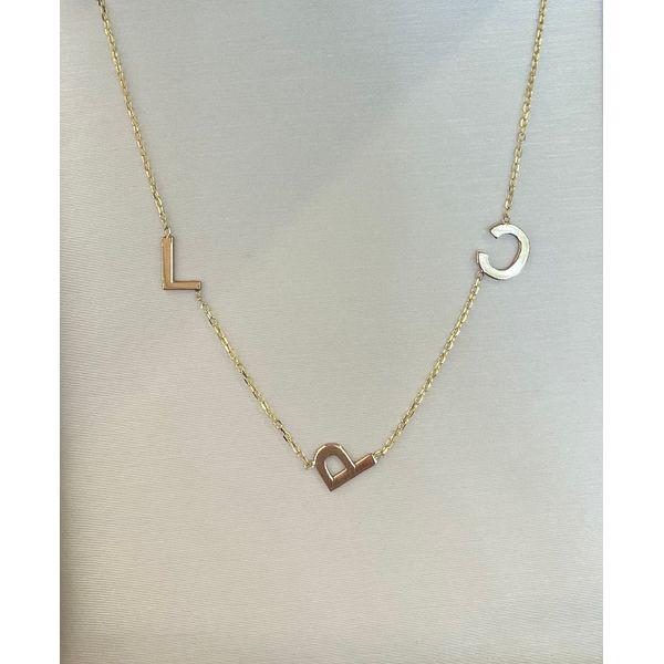 Initial Necklace Image 3 Kiefer Jewelers Lutz, FL