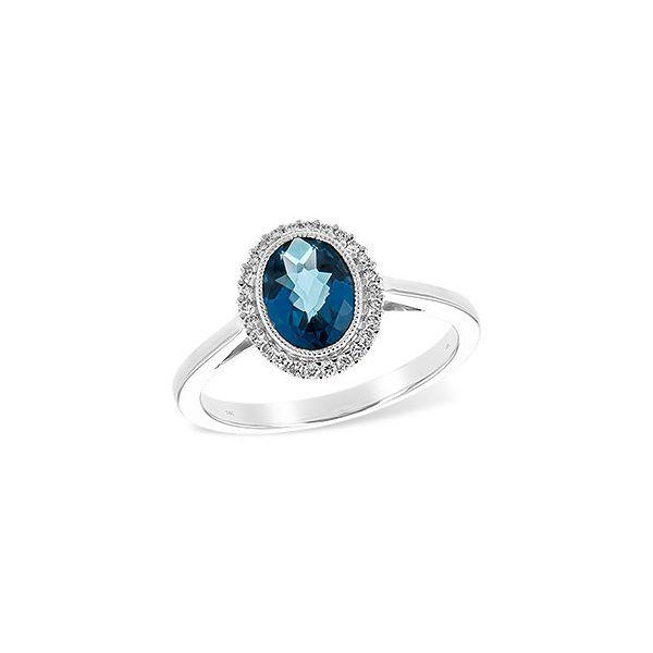 14K White Gold London Blue Topaz Ring Kiefer Jewelers Lutz, FL