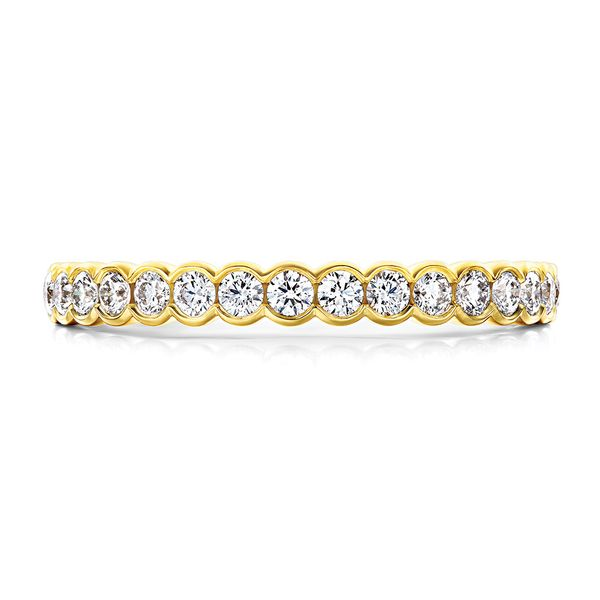 hearts on fire isabelle bezel band 14k yellow gold diamond rounds
