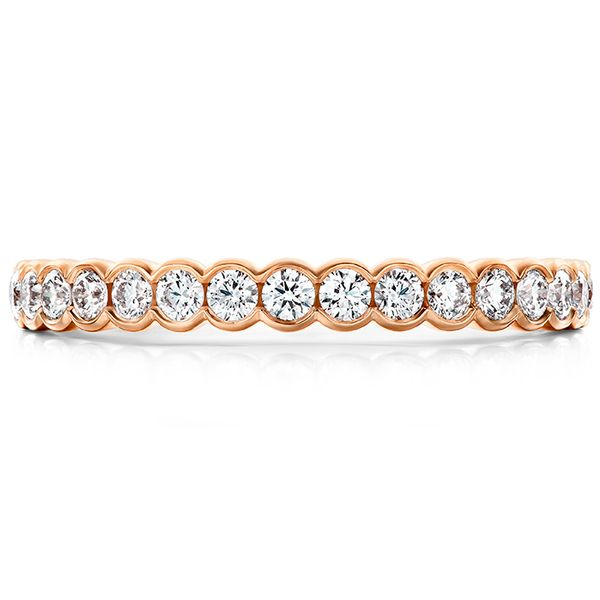 hearts on fire isabelle bezel band 14k rose gold diamond rounds