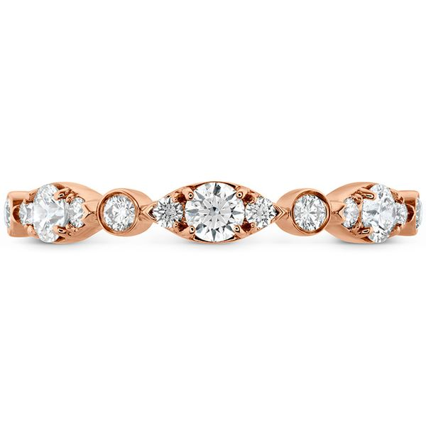 hearts on fire bezel regal band 18k rose gold with diamond rounds in alternating sizes