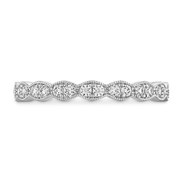 hearts on fire lorelei floral milgrain band 18k white gold with diamond rounds