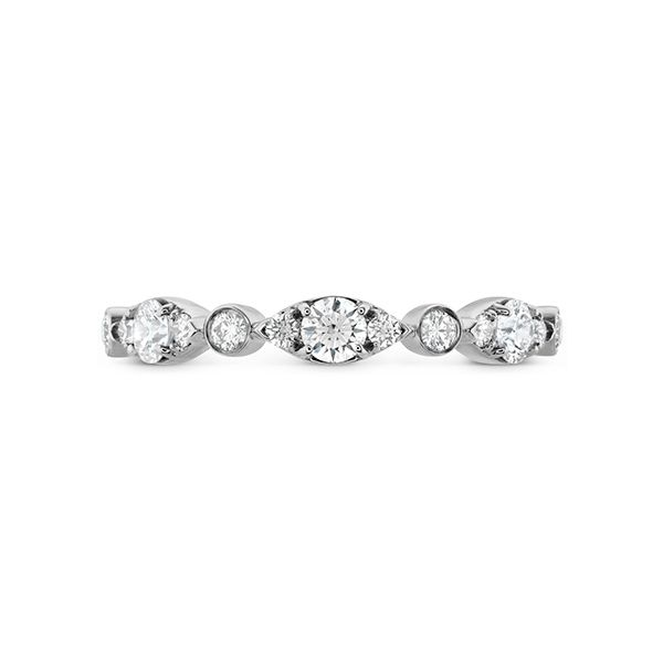 hearts on fire bezel regal band 18k white gold with diamond rounds in alternating sizes