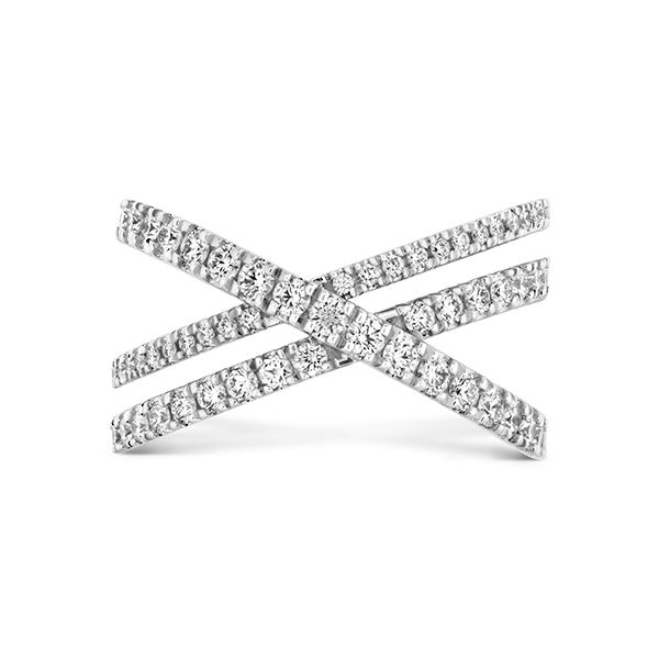 hearts on fire harley wrap power band with three diamond eternity criss-cross bands set in 18k white gold