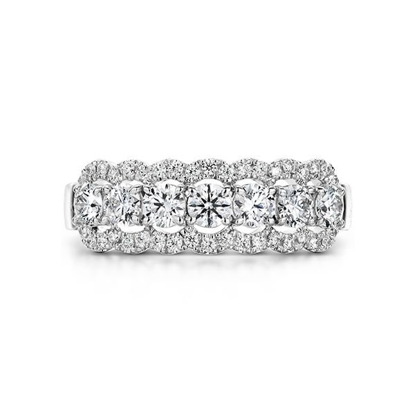 hearts on fire aurora diamond band with diamond halo 18k white gold