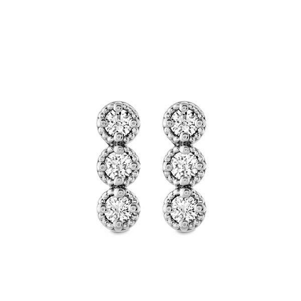 Liliana Milgrain Diamond Bar Earrings The Diamond Center Claremont, CA