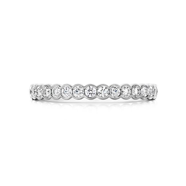 hearts on fire isabelle bezel band 14k white gold diamond rounds