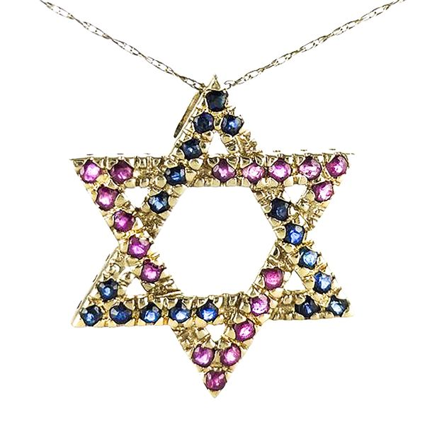 14k Yellow Gold Star of David Pendant Malak Jewelers Charlotte, NC