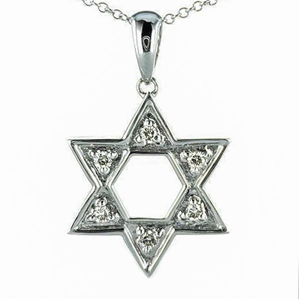 14k white gold Star of David Pendant Malak Jewelers Charlotte, NC