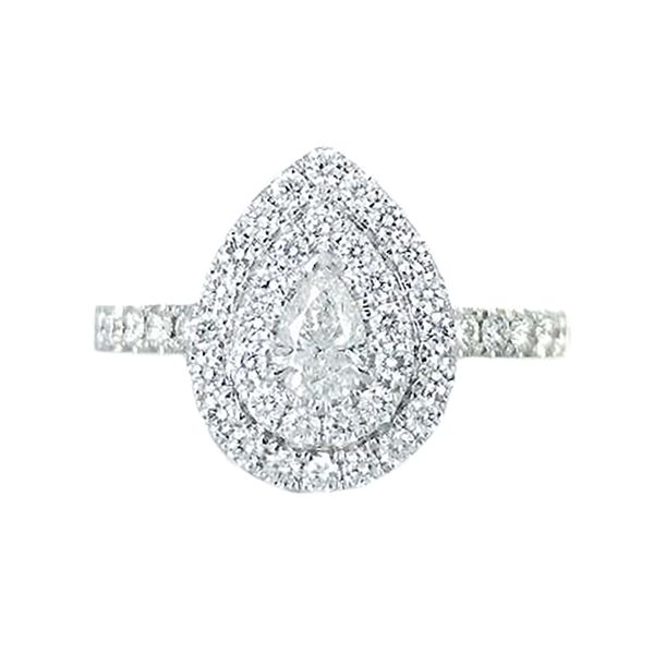 18k white gold diamond engagement ring Malak Jewelers Charlotte, NC