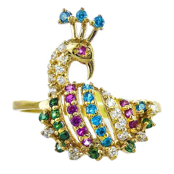22k Multi-Gem Ring Malak Jewelers Charlotte, NC