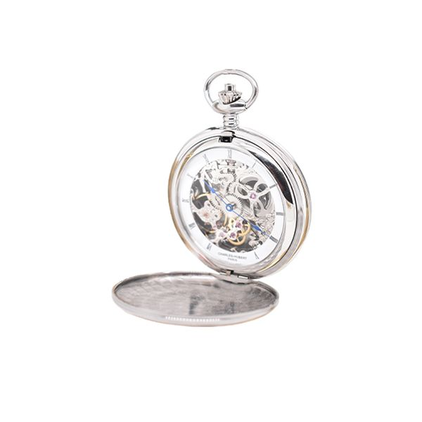 Stainless Steel Charles Hubert Pocket Watch Malak Jewelers Charlotte, NC
