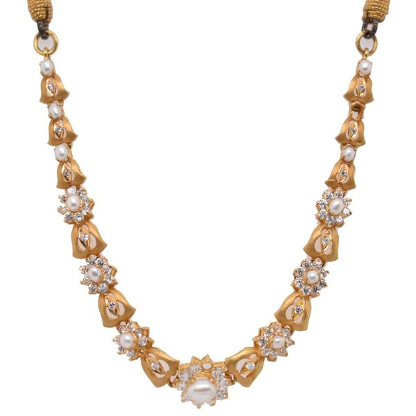 22k Yellow Gold Pearl Necklace Malak Jewelers Charlotte, NC