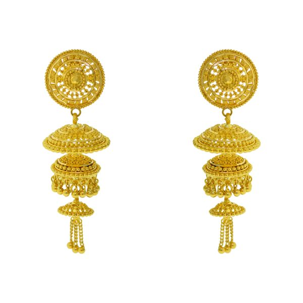 22k Yellow Gold Earrings Malak Jewelers Charlotte, NC