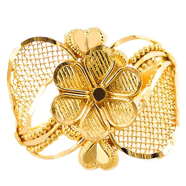 22k Yellow Gold Floral Ring Malak Jewelers Charlotte, NC