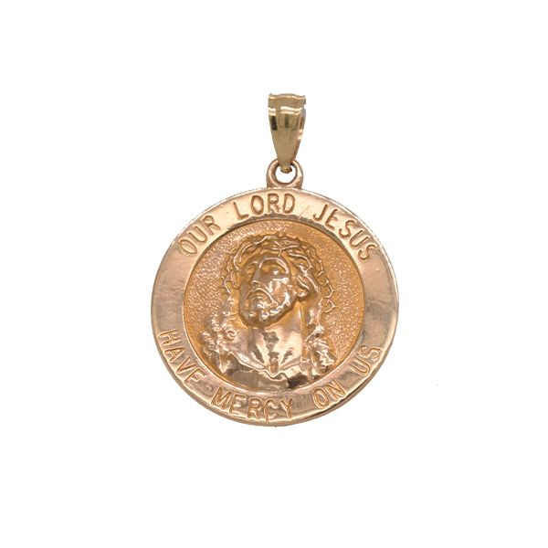 14k Yellow Gold Religious Medal Malak Jewelers Charlotte, NC