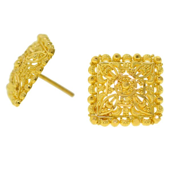 22k Yellow Gold Earrngs Malak Jewelers Charlotte, NC
