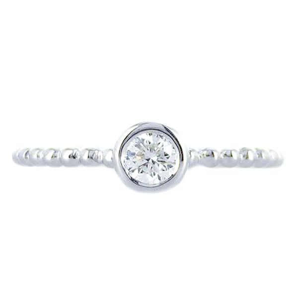 18k white gold tribute stackable ring Malak Jewelers Charlotte, NC