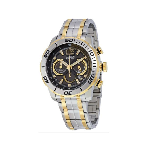 Citizen Eco-Drive Chronograph Black Dial Men's Watch Malak Jewelers Charlotte, NC