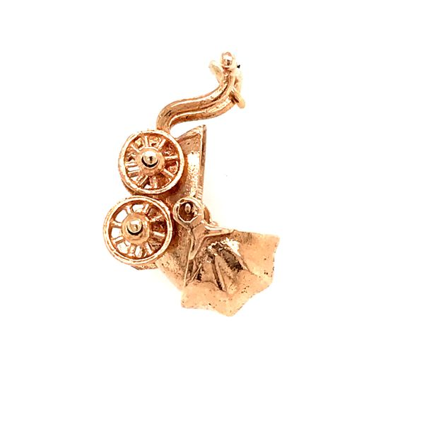 14k yellow gold baby carriage charm Malak Jewelers Charlotte, NC