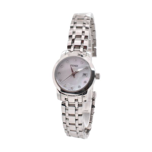 Fendi Stainless Steel Mother of Pearl Wrist Watch Malak Jewelers Charlotte, NC