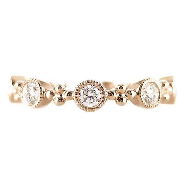 18k rose gold stackable ring Malak Jewelers Charlotte, NC