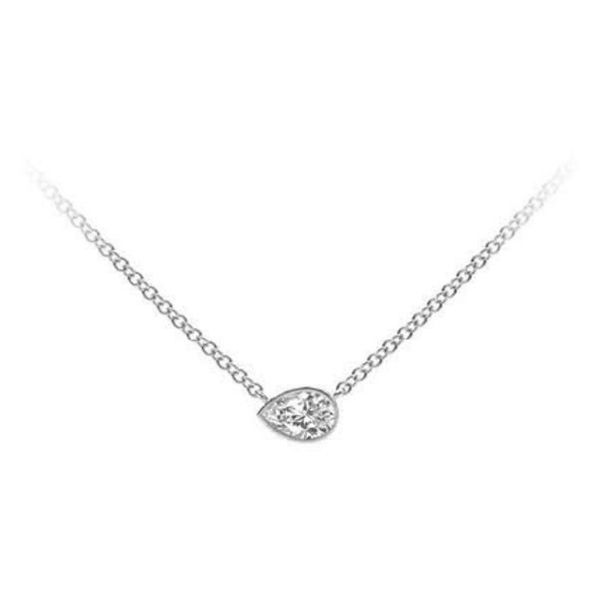 18k white gold diamond necklace Malak Jewelers Charlotte, NC