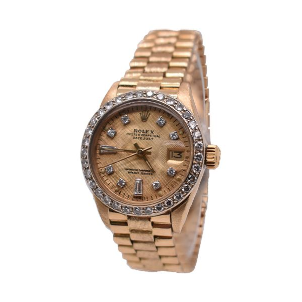 Preowned gold rolex watch Malak Jewelers Charlotte, NC