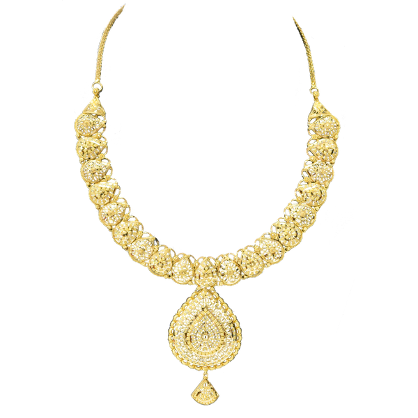 22k Yellow Gold Necklace Malak Jewelers Charlotte, NC