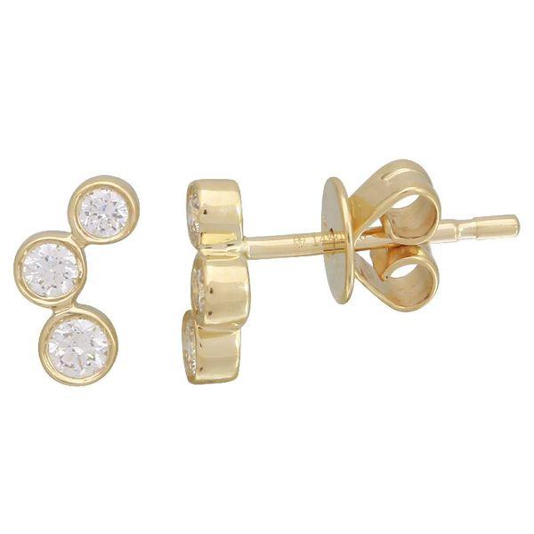 3 Stone Stud Earring Martin Busch Inc. New York, NY