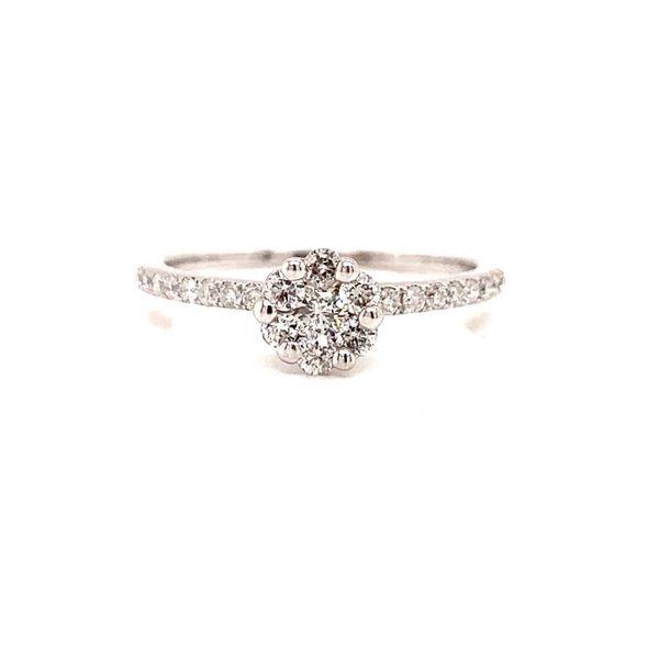 Cluster Diamond Engagement Ring Martin Busch Inc. New York, NY