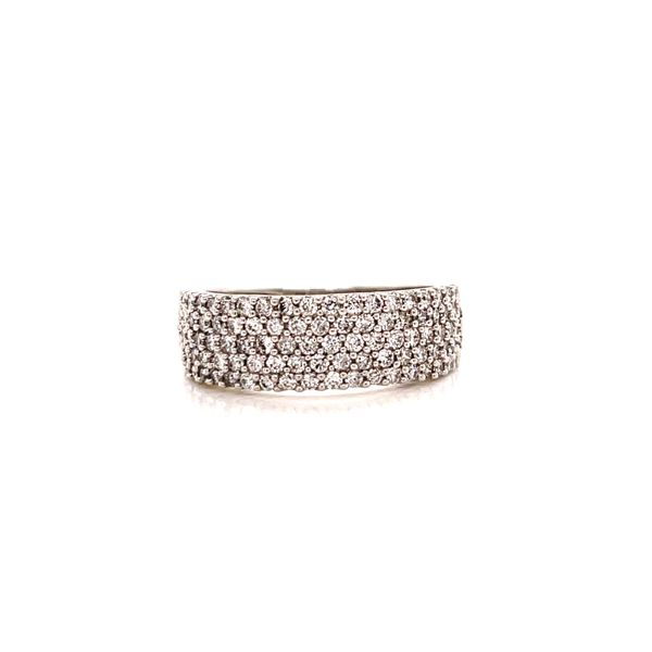 White Gold Pave Wide Band Martin Busch Inc. New York, NY