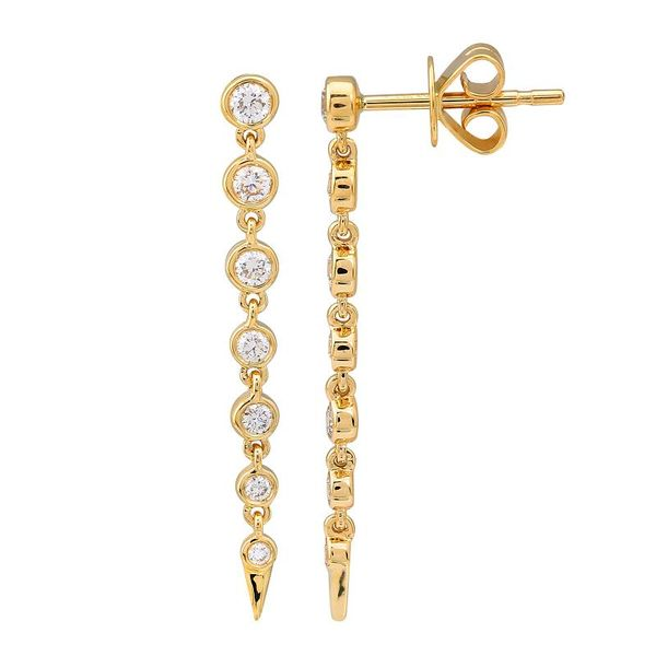 Gold and Diamond Drop Spike Earrings Martin Busch Inc. New York, NY
