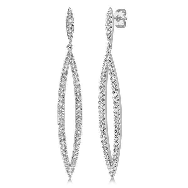 14K White Gold Diamond Drop Earrings Martin Busch Inc. New York, NY