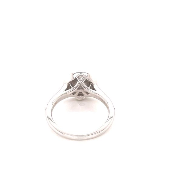 18K Halo Engagement Ring Image 3 Martin Busch Inc. New York, NY