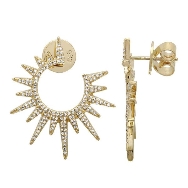 Yellow Gold Starburst Earrings Martin Busch Inc. New York, NY