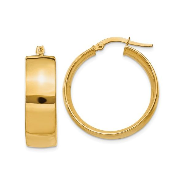 Wide Gold Hoop Earrings Martin Busch Inc. New York, NY