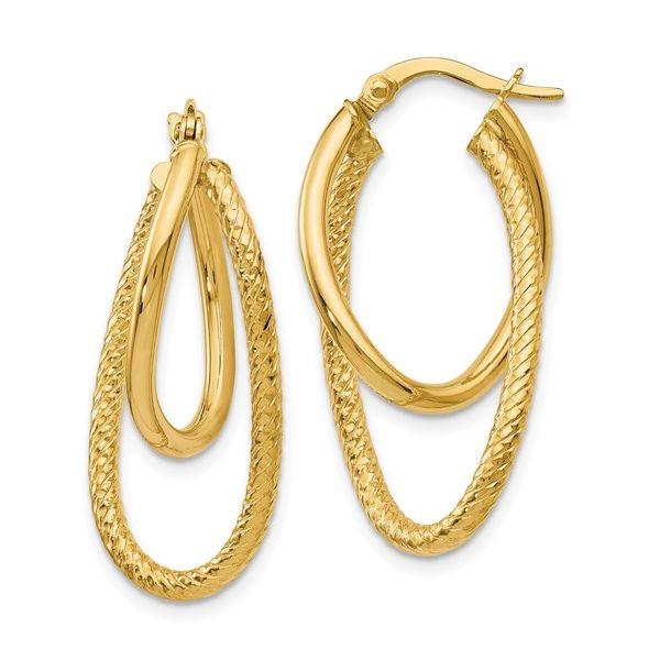 14K Gold Textured Double Hoop Earring Martin Busch Inc. New York, NY