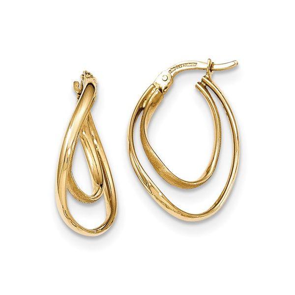 14 Karat Medium Hoop Earrings Martin Busch Inc. New York, NY