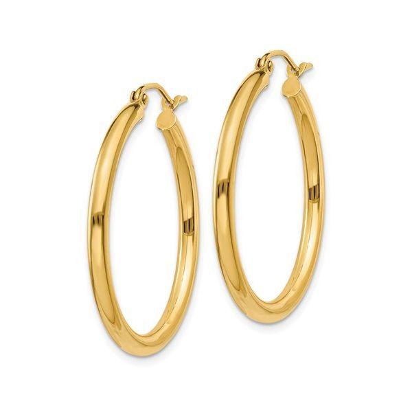 14 Karat Gold Medium Hoop Earrings Image 2 Martin Busch Inc. New York, NY