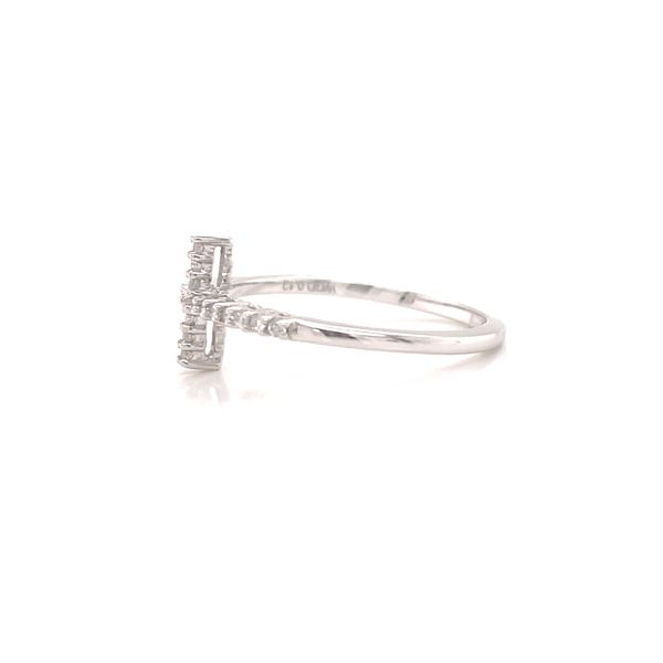 White 14 Karat Cross Ring  Image 3 Martin Busch Inc. New York, NY