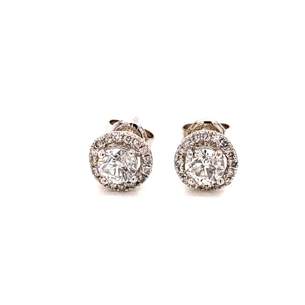 Halo Diamond Stud Earrings Martin Busch Inc. New York, NY