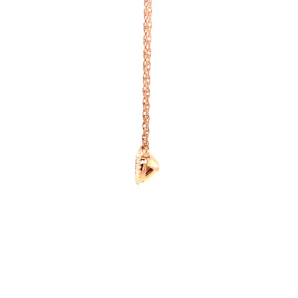 Rose Gold Diamond Drop Pendant Image 2 Martin Busch Inc. New York, NY