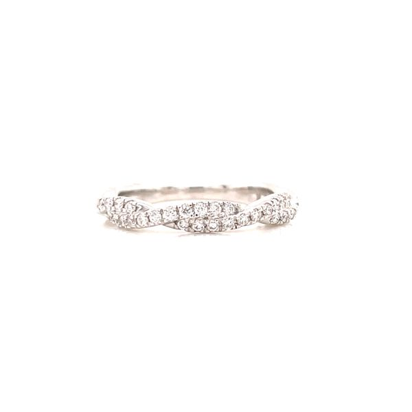 14K White Twisted Diamond Band Martin Busch Inc. New York, NY