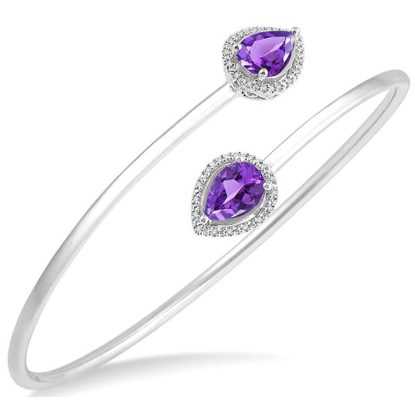 Silver Amethyst and Diamond Bangle  Martin Busch Inc. New York, NY