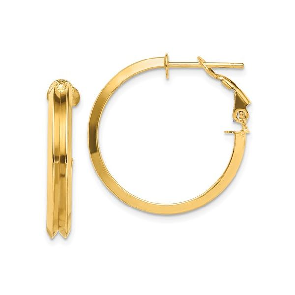 14 Karat Medium Omega Hoop Earrings Martin Busch Inc. New York, NY