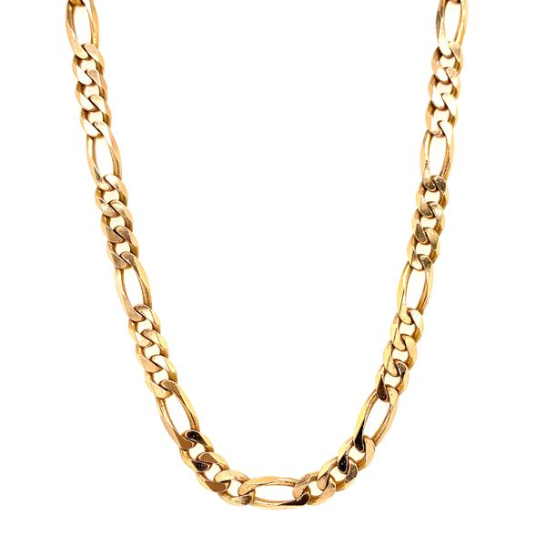 Rose gold Solid Figaro Chain Martin Busch Inc. New York, NY