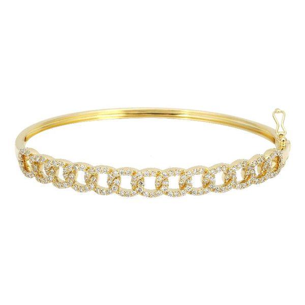 Chain Link Diamond Bangle Bracelet Martin Busch Inc. New York, NY